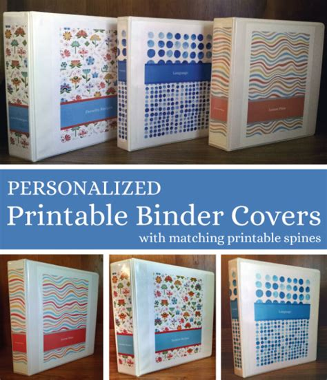 free editable printable binder covers and spines printable binder covers spines make your own home
