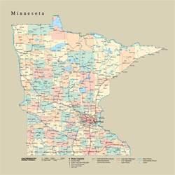 Minnesota Zip Code Tackamap Minnesota State Wall Map Cut Out Style From