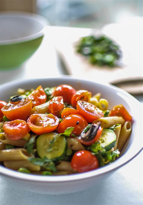 on summer pasta salad and on why you should not rinse