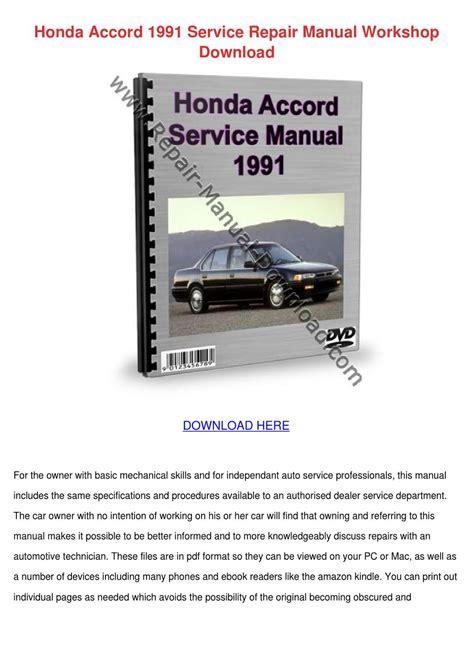 service manuals schematics 2006 honda accord user handbook honda accord 1991 service repair manual works by todster issuu