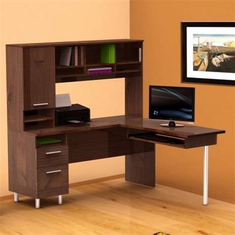 Computer Desk L Shaped With Hutch Corner L Shaped Computer Desk With Hutch In Orange Room Within Computer Desk Hutch Advantages Of