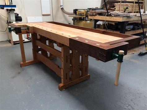 woodworking shop table greene greene inspired workbench finewoodworking