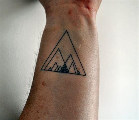 geometric tattoo wrist 67 best triangle tattoos ideas