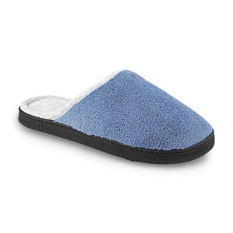 wide slippers for isotoner s chukka blue wide width clog slipper