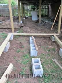 Cheapest Way To Build A Patio by Frugal Ain T Cheap Diy Floating Deck