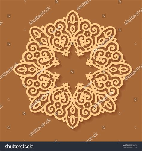 pattern islamic floral vector abstract circular pattern design mandala stock