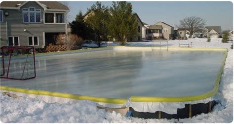 rink in backyard backyard rink in a box outdoor furniture design and ideas