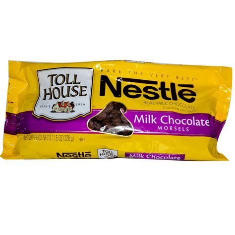 nestle toll house nestle toll house milk chocolate morsels 11 5 oz 326 g iherb com