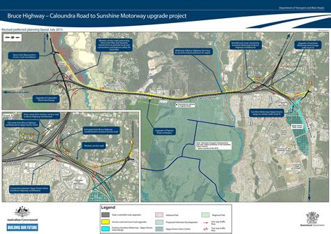traffic management design qld bruce highway upgrade features australian first design