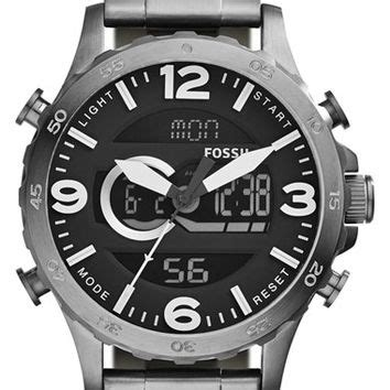 Fossil Nate Black Grey best mens black fossil products on wanelo
