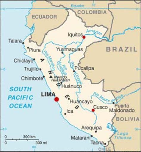 peru latitude, longitude, absolute and relative locations