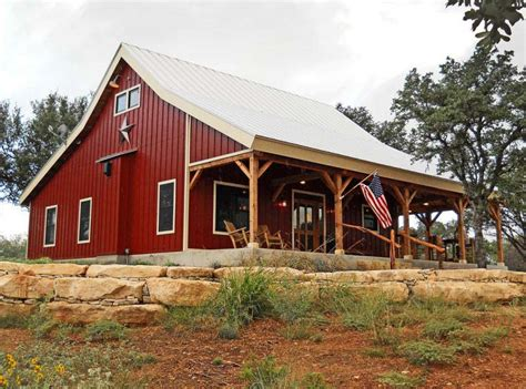 Country Barn Plans | country barn home kit w open porch 9 pictures metal