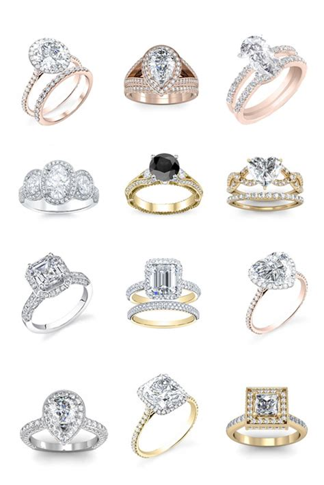 glamorous engagement rings and looks