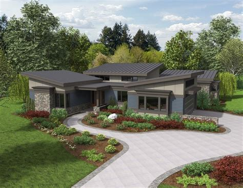 modern ranch house plans the caprica contemporary ranch house plan