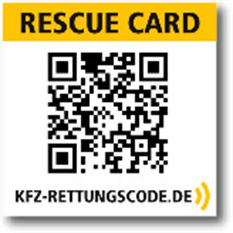 Kfz Rettungskarte Aufkleber by Rettungskarten F 252 R Den Pkw Kfz Rettungscode