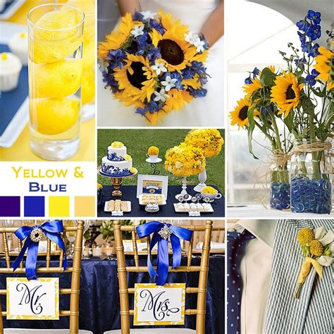 yellow and blue color schemes your wedding color story part 2 wedding happy and