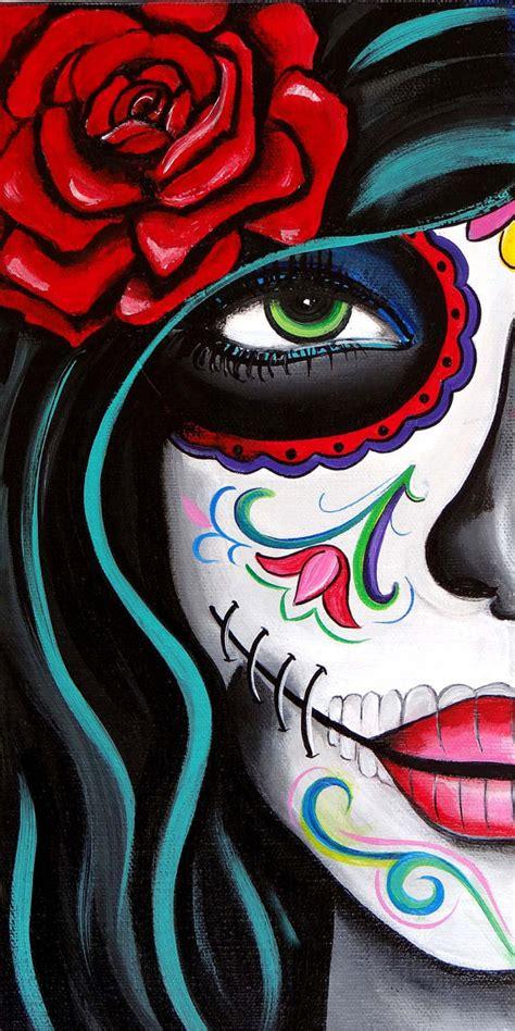 imagenes de calaveras gordas green eyes day of the dead art by melody smith