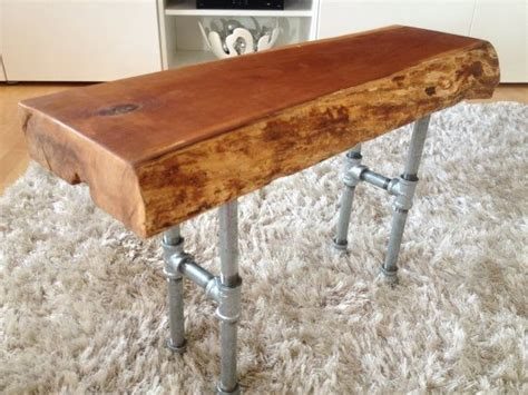 wood bench metal legs live edge wood bench with metal legs