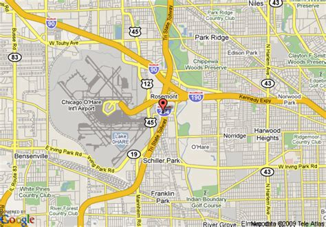des plaines il map of aloft chicago o hare des plaines
