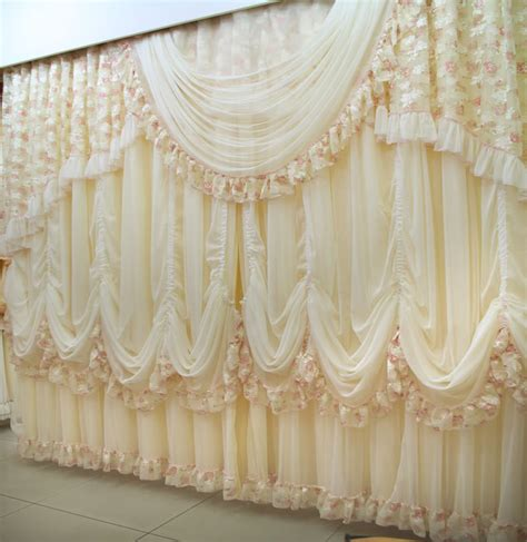 luxury lace curtains new fashion high quality luxury lace curtains the finished