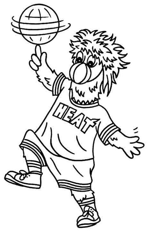 nba bulls coloring pages coloring book miami heat