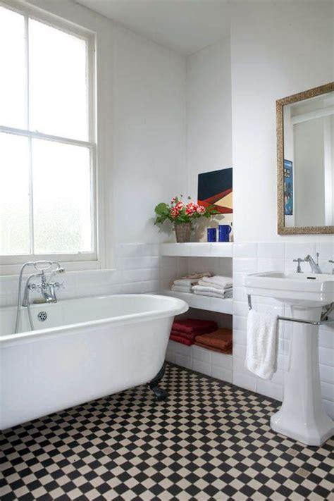 modern checkerboard tile floor vintage modern bathrooms checkerboard floor home
