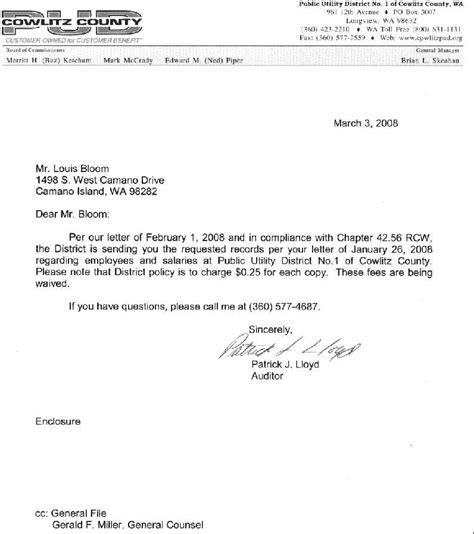 Cowlitz County Court Records 2007 Cowlitz County Utilities Employees List
