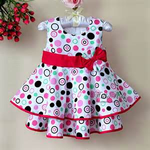 Fashion arrivals latest stylish cotton frocks for babies 2014