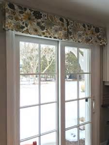Fabric Window Valances Patio Door Window Treatment Using A Simple Decorative Box
