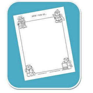 printable grow journal free printable journal or story response page quot when i grow