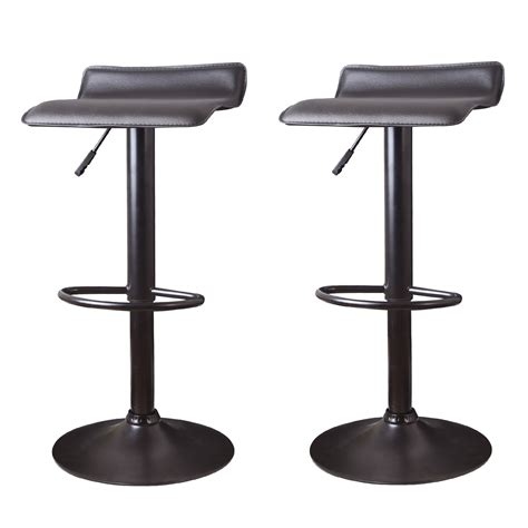 backless black swivel bar stools joveco 360 degree swivel adjustable backless bar stool