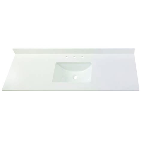 61 vanity top single home decorators collection 61 in w engineered marble