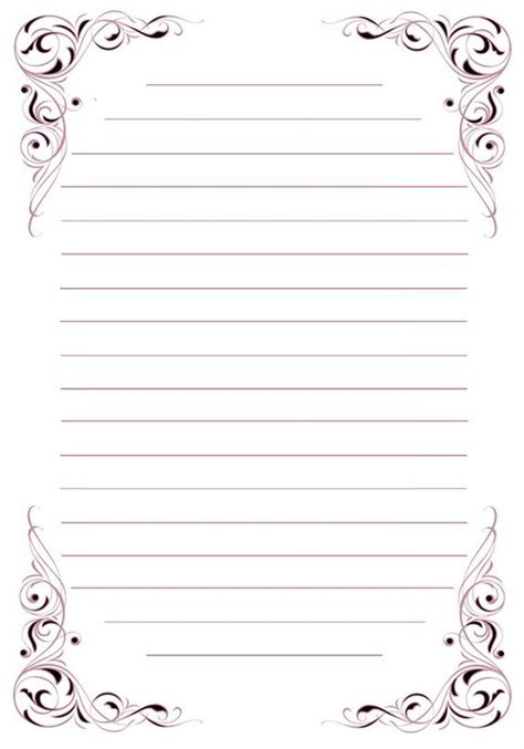 printable stationery black and white with lines printable lined stationery black and white www pixshark