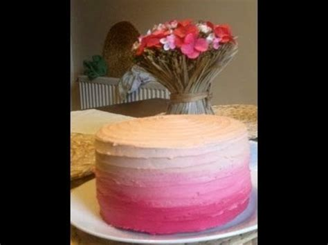 ice  ombre cake easy method youtube