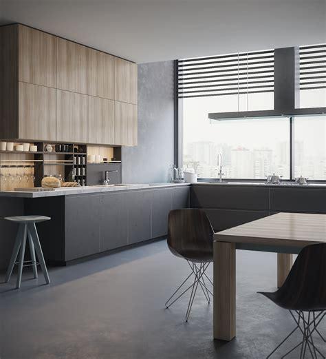 Poliform Kitchen Design Kitchen 3d Visualization Poliform On Behance