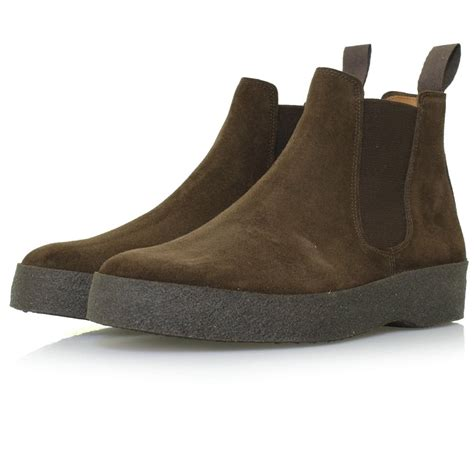sanders sanders footwear chelsea chocolate suede boot