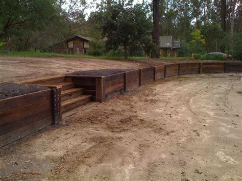 wood retaining walls com wood wood retaining wall