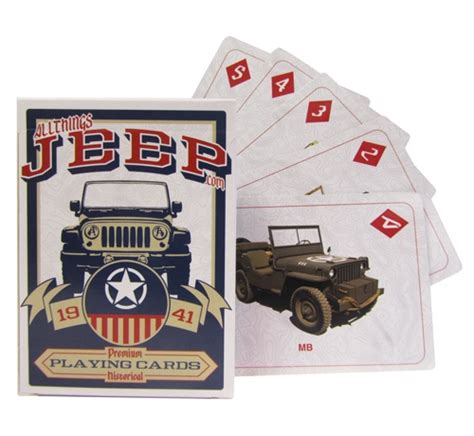 jeep card all things jeep jeep deck of cards