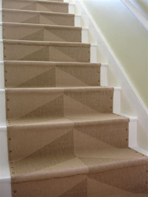 stairs rugs loft cottage diy nailhead stair runner