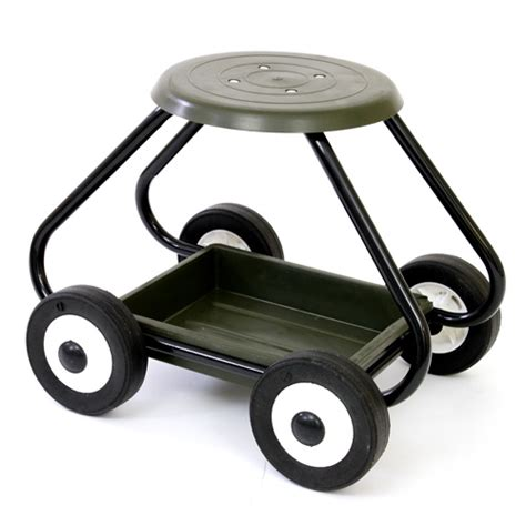 garden stool on wheels green gardening tools for the