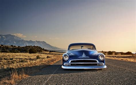 Free Car Wallpapers Rods by Car Blue Cars Rod Chevy Chevrolet Desert
