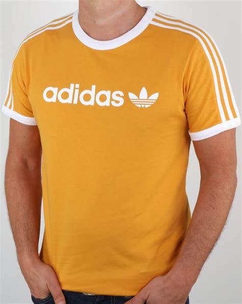 Tshirt Adidas Yellow adidas originals linear t shirt tactile yellow ringer 3