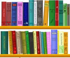 books on shelf clip at clker vector clip