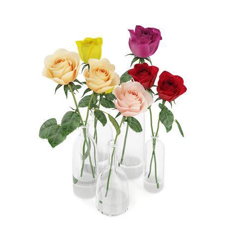 Roses In Glass Vase by Roses In Glass Vases 3d Model Max Obj Fbx C4d