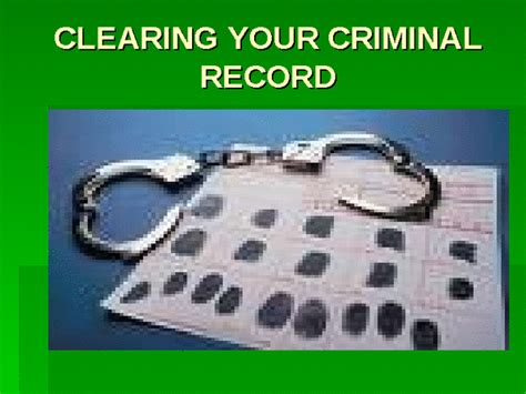 Does A Criminal Record Get Cleared Clearing Your Criminal Record Docslide