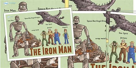 iron man large display poster iron man story book