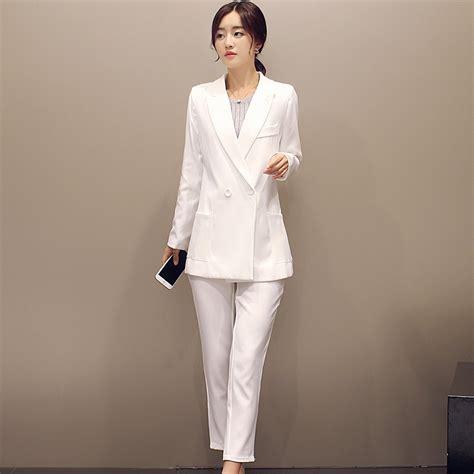 new 2015 autumn formal s pant suit white fashion ol suit sets sale casual plus