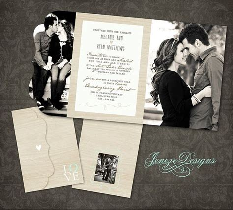 Wedding Card Template Photoshop best 20 photo wedding invitations ideas on