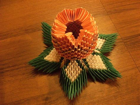 3d origami lotos flower how to make