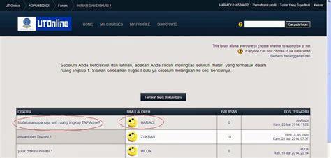 jadwal tutorial online ut langkah mengikuti diskusi tutorial online tuton